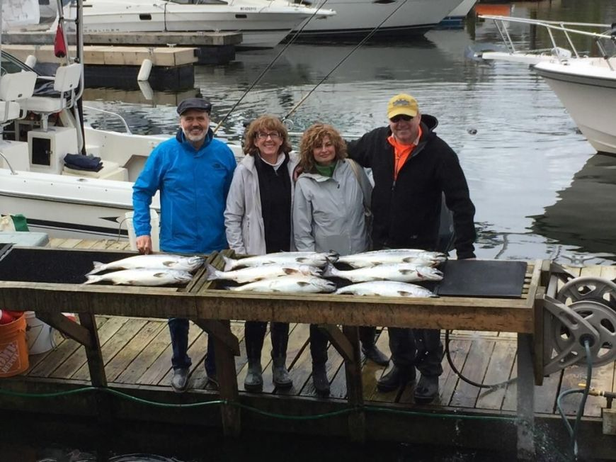 Fishing charter with friends in Vancouver