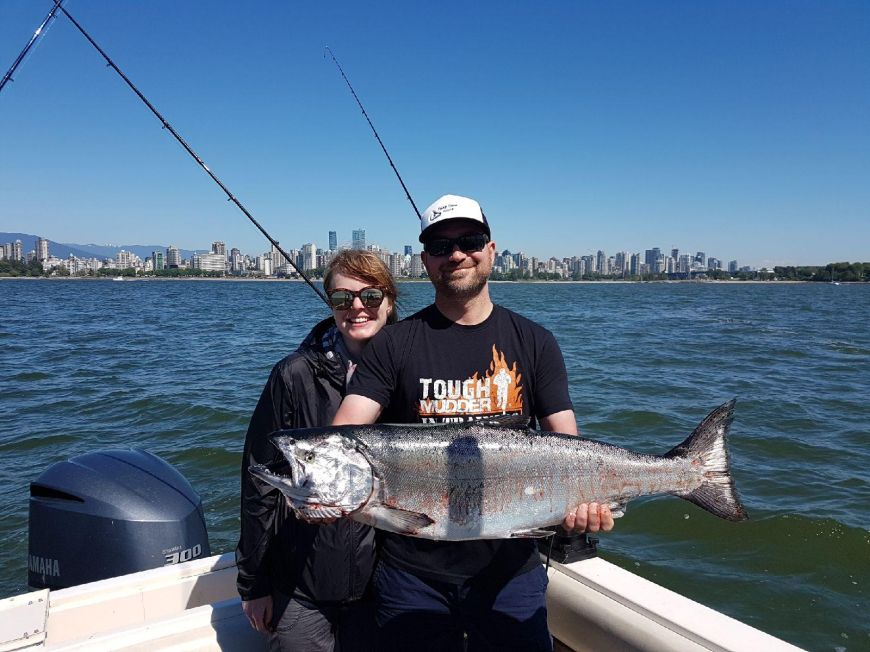 Vancouver Salmon Fishing Charter Success