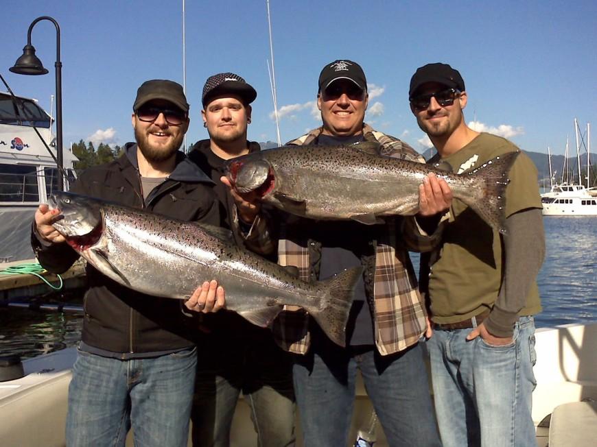 Oct 16 More Chrome Big Chinook Bon Chovy Salmon Fishing